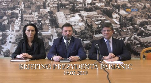 Briefing prezydenta Pabianic 2019-03-19