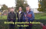 Briefing prezydenta Pabianic 2021-10-15
