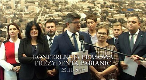 Konferencja prasowa prezydenta Pabianic i Koalicyjnego Klubu Radnych Pabianice