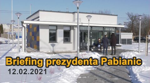 Briefing prezydenta Pabianic