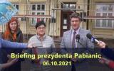 Briefing prezydenta Pabianic 2021-10-06