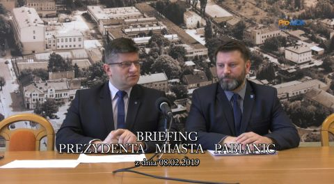 Briefing prezydenta Pabianic 2019-02-08